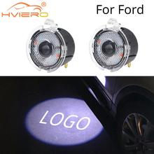 2X Welcome Light for Ford Rear View Mirror Laser Projector LED Photo Logo Lamp Car Door Auto Lamp Light Dc 12V 2x rear under mirror door welcome led ghost shadow projector light for ford kuga focus led logo light car styling lighting