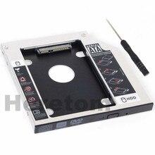 Heretom Универсальный SATA 2-й жесткий диск, SSD, корпус карман для жесткого диска лоток для 9,5 мм ноутбука CD/DVD-ROM слот для оптического привода