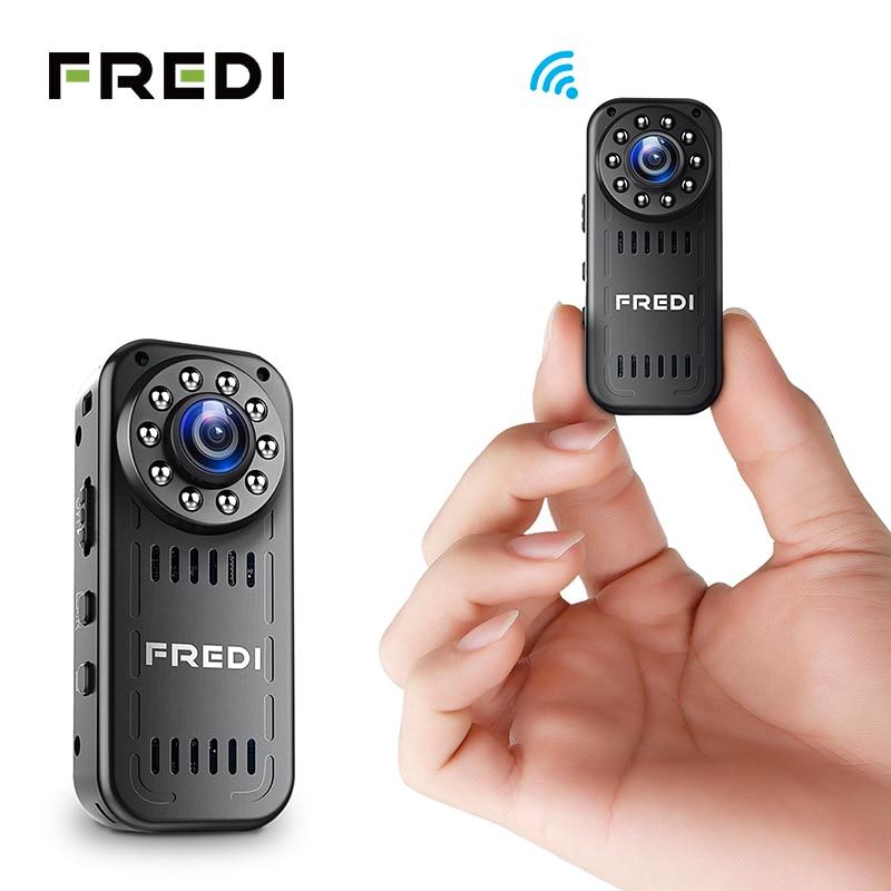 FREDI Mini IP Camera 2.0MP 1080P HD P2P Infrared Night Vision Security Camera Wireless Outdoor WIFI Camera Support 128G TF Card