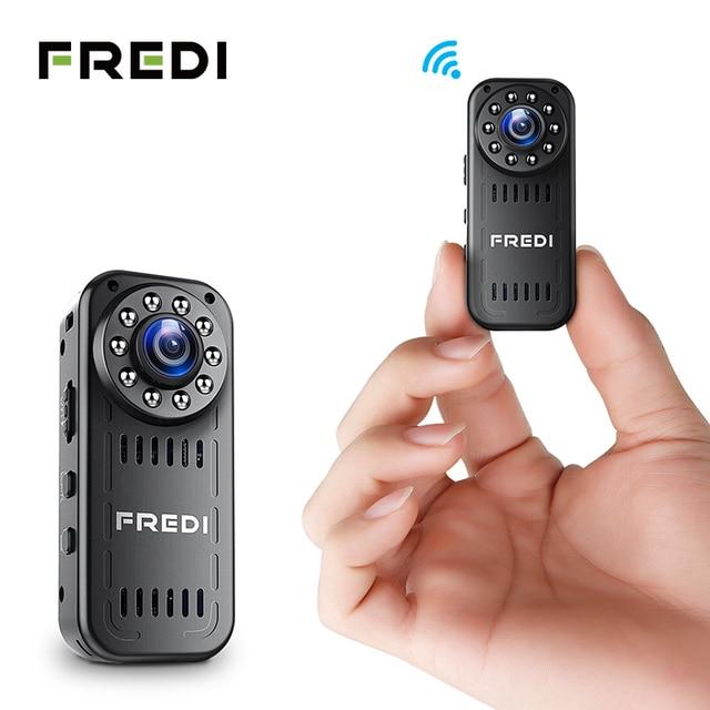 FREDI Mini cámara IP 2.0MP 1080 P HD P2P de infrarrojos de visión nocturna cámara de seguridad inalámbrica al aire libre WIFI Cámara soporte 128G TF tarjeta