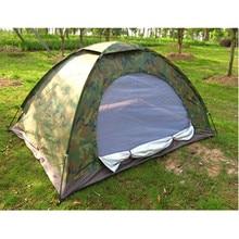 Termurah serat kaca serat tiang tunggal camo warna luar bepergian mendaki berkemah 2m * 1.5m tahan air dua orang tenda