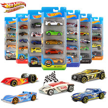 5pcs/pack Original Hot Wheels 1:64  Metal Mini Model Car Kids Toys For Children Diecast Brinquedos Hotwheels Birthday Gift c4982