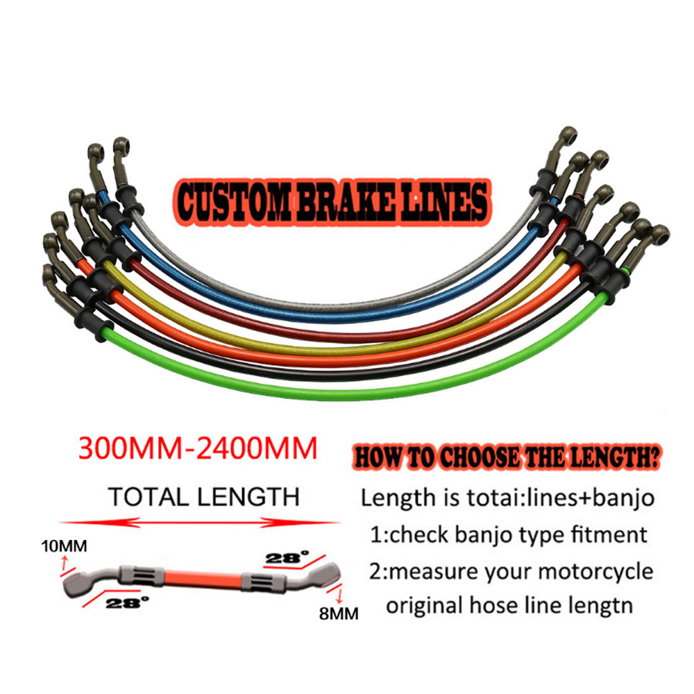Radiator Tube Oil Hoses Motorcycle Brake Line Reinforced Clutch Hydraulic Pipe