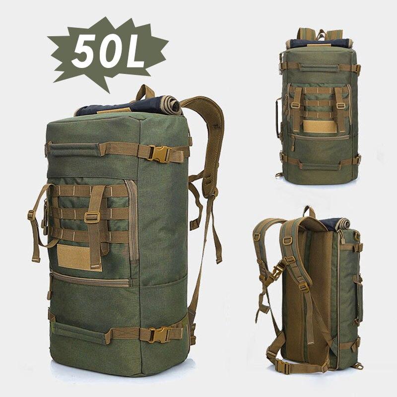 50L escalade hommes militaire tactique assaut sac à dos femmes étanche armée sac à dos en plein air randonnée chasse Camping sac à dos