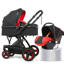 Bellec 3 in 1 stroller walking car can sit reclining folding two-way shock high landscape baby stroller usa free shipping hjbb high landscape stroller baby can sit reclining folding trolley 4 in 1 with comfortable car seat