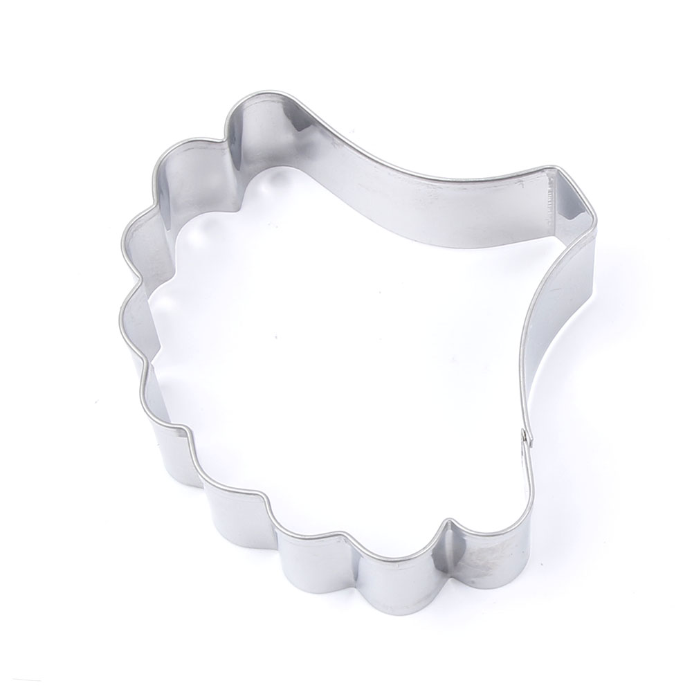flower petal shaped stainless steel cookie cutter and fondant cake decorating tools