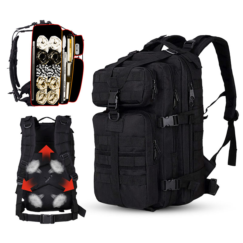 35L Climbing Hiking Military Tactical Men Backpack Waterproof Camping Mountaineering Bag Outdoor Travel Sport Molle 3P Bag Men