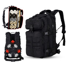 Военный тактический Мужской рюкзак 35L для альпинизма, походов, водонепроницаемая сумка для кемпинга, альпинизма, уличная Дорожная Спортивная Сумка Molle 3P для мужчин
