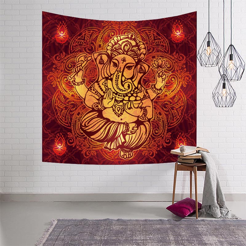 Indian Tapestry Beach Blanket Mandala Ganesha Wall Hanging Tapestries Home Textile Blanket For Beach