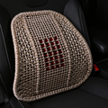 The car backrest cushion cushion on waist pillow cushion with massage hand woven silk breathable car cushion buckwheat