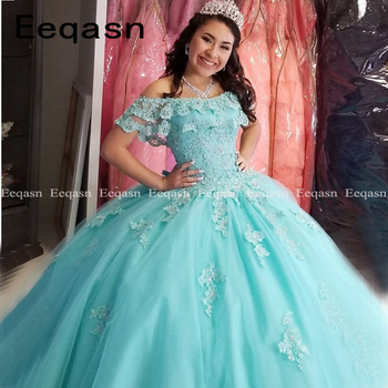 Sweet 16 Year Quinceanera Dresses 2020 Vestido debutante 15 anos Ball Gown Lace Applique Corset Prom Dress For Party - discount item  20% OFF Special Occasion Dresses