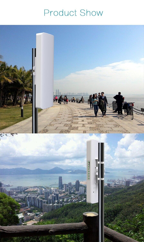 COMFAST Outdoor abdeckung siganl booster 300 Mbps verstärker 5,8 Ghz 14dBi High Gain Wifi Empfänger Für IP Kamera Projekt CF E312A - 4