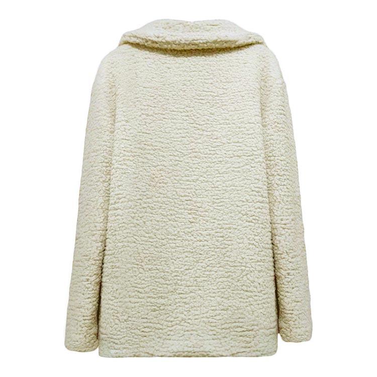 HTB1rkMJXZfrK1Rjy1Xdq6yemFXam Women winter jacket 2019 fashion new double-breasted sweaters lapel loose fur jacket women outwear women coat ladies jacket