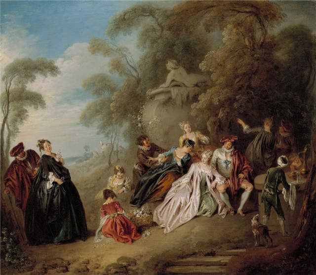 Rococo Painter Jean Baptiste Pater Le Gouter Oil Painting - Rococo painting
