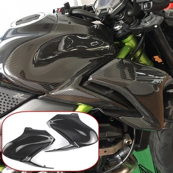 Real 100% Carbon Fiber Gas Tank Side Cover Panel Fairing Cowl Guard for 2017 2018 2019 Kawasaki Z900 Motorcycle Accessories