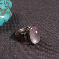 #8.5 Handmade Nepalese 925 Silver Ring Tibetan 925 Sterling Silver Ring Silver Rose Bohemia Ring