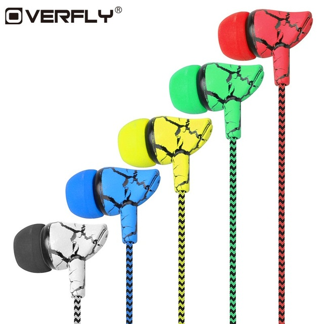 Crack Braided HeadsetS Wired Headphone with Microphone