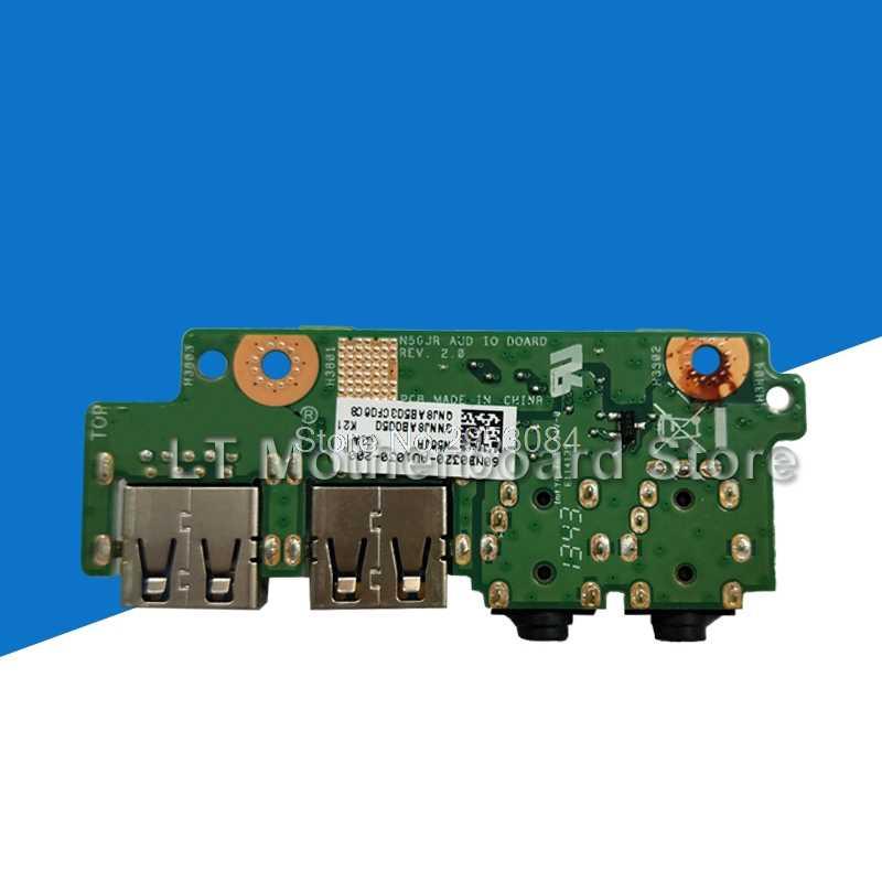 ل ASUS N56 N56V N56VJ N56VM N56VB N56VZ N56J N56JR N56JN N56JK محمول الصوت USB IO مجلس واجهة الصوت قارئ بطاقات مجلس