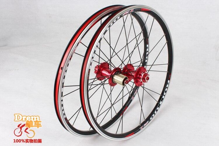 Цена за EMS 20 inch RT * 1 3/8 V/дисковый тормоз 5 Peilin спереди 2 сзади 5 подшипник ультра гладкий/свет/451/406 колеса BXM складной велосипед