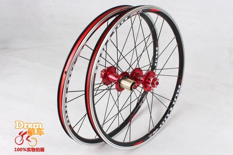 EMS 20inch RT *1-3/8 V /disc brake 5 Peilin front 2 rear 5 bearing ultra smooth/ light / 451/406 wheel wheels BXM folding bike цена