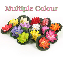 Tank-Plant-Ornament Floating-Flower Pond-Decoration Garden Artificial-Lotus-Water Home