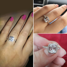 Elegant Wedding Ring Silver Filled Jewellery Women
