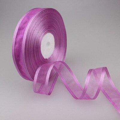 (50 ярдов/партия) 3/4 »(20 мм) Broadside фиолетовый цвет органза ленты оптовая продажа подарочная упаковка украшения ленты Оптовая продажа Новый