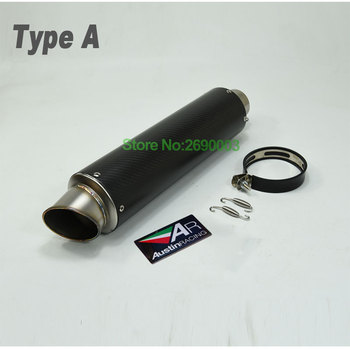 Universal ID:61mm L:500mm/380mm Carbon Fiber Motorcycle Exhaust Pipe Motorbike Muffler Escape for Most of Scooter Motorcycle