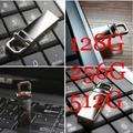 Atacado USB Flash Drive de Metal Pendrive de alta velocidade USB vara 128 GB 256 GB Pen Drive capacidade Real 512 GB Flash USB frete grátis