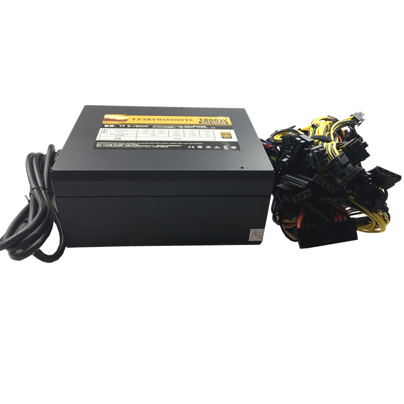 все цены на T.F.SKYWINDINTL 1800W Asic bitcoin power Supply 1800W ETH power supply ATX Mining Machine supports 8 GPU Cards For BTC Antiminer онлайн