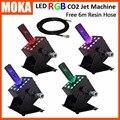 Сценический эффект  сценический эффект  led co2 jet  многоугольные крио струи с 12 светодиодными лампами  сценический фоггеры 250 Вт  dmx  co2 Колонка  ...