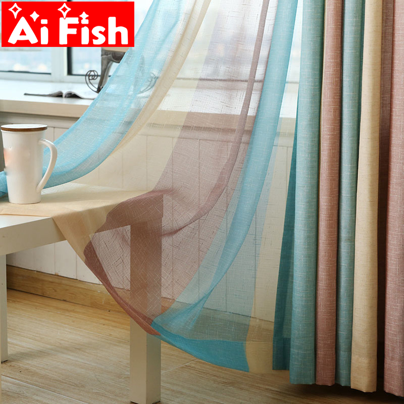 Fashion Stripe Rustic Curtain Yarn Bedroom Living Room: Aliexpress.com : Buy Modern Colorful Rainbow Stripe