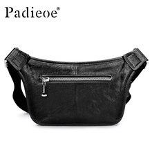 Padieoe высокое качество Для мужчин поясная сумка натуральная кожа поясная сумка для денег мобильный телефон Мужская Мода Регулируемый ремень талии пакет