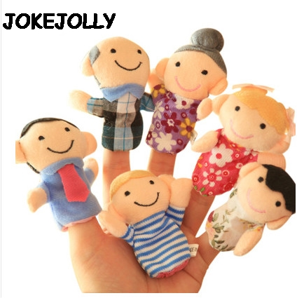 Baby-Plush-Toy-Finger-Puppets-Tell-Story-Props-10pcs-Animals-or-6pcs-Family-Doll-Kids-Toys-Children-Gift-GYH-5