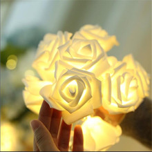 Novelty Soft Foam Rose Flower Fairy String Lights 50LEDs 7.5M Fashion Holiday Lighting Wedding Party Christmas Decoration