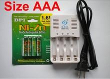 Мощный 4 Шт. 1.6 В aaa 1000mWh Ni-Zn аккумуляторная батарея nizn aaa 1.5 В аккумуляторная батарея + 1 шт. aa/aaa зарядное устройство