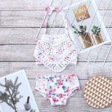 c9e915e4be Enfants maillot de bain d'été enfants filles Bikini plage deux pièces  coquille fleur maillot