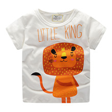 2019 summer children t shirts new little boys cartoon t shirt girls boys Unisex T shirt 2-8 Year animal print Boys Clothes