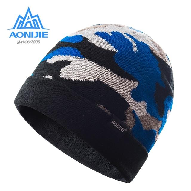 AONIJIE Unisex Winter Warm Sports Slouchy Cuffed Knit Beanie Hat Skull Cap  For Running Jogging Marathon Travelling Cycling M26 f38d50da300