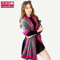 New Design Running Horse Print Winter Woman Scarf Brand Fashion Soft Cotton Shawl And Scarves