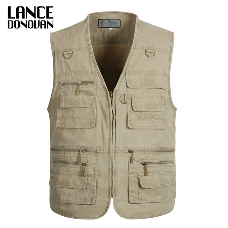 PLUS SIZE XL-4XL 5XL 6XL 7XL tactical Vest Men 2016 New Arrival Multi-pockets Photography Cameraman Vest