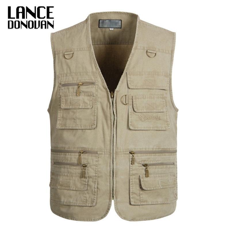 PLUS SIZE XL-4XL 5XL 6XL 7XL Tactical Vest Men 2019 New Arrival Multi-pockets Photography Cameraman Vest