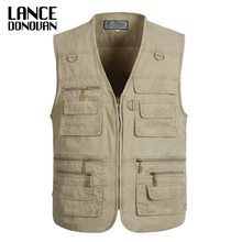 PLUS SIZE XL-4XL 5XL 6XL 7XL tactical Vest Men 2019 New Arrival Multi-pockets Photography Cameraman Vest(China)