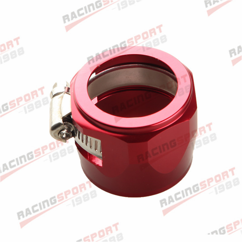 24AN 24AN AN24 с шестигранной отделочники зажимы для топливного шланга Алюминий - Цвет: red