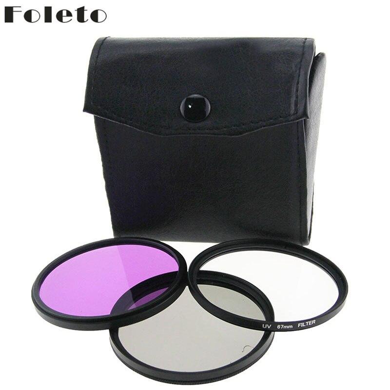 Foleto 77 mm 77mm 1 db UV FLD CPL + BAG szűrő készlet Polfilter - Kamera és fotó