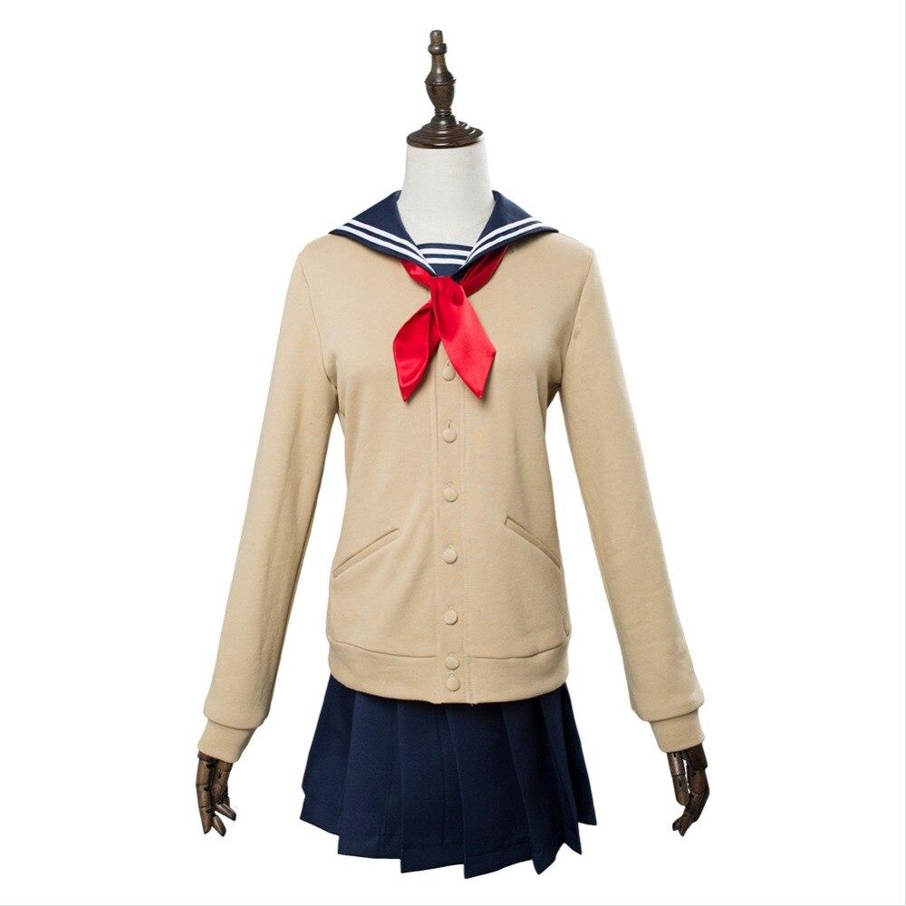 Anime Boku no Hero Akademia My Hero Academia Cosplay Himiko Toga Uniform Cosplay Costume Adult Women Full Sets Halloween Cosplay