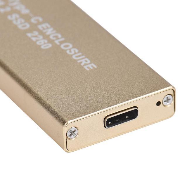 Alta Calidad SATA 3.0 USB 3.1 Tipo C a NGFF M.2 SSD de 2260 Adaptador de Tarjeta De Caja Cubierta de la Caja + herramienta Para Windows