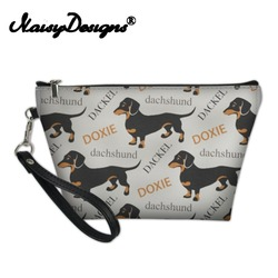 Noisydesigns женская сумка для макияжа Такса Doxie для девочек, дорожный органайзер, несессер, Trousse Maquillage Femme, Прямая поставка