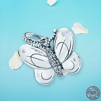brand 925 Sterling Silver The Decorative Butterfly Pendant Fit Original Pandora bracelet for woman DIY gift jewelrly