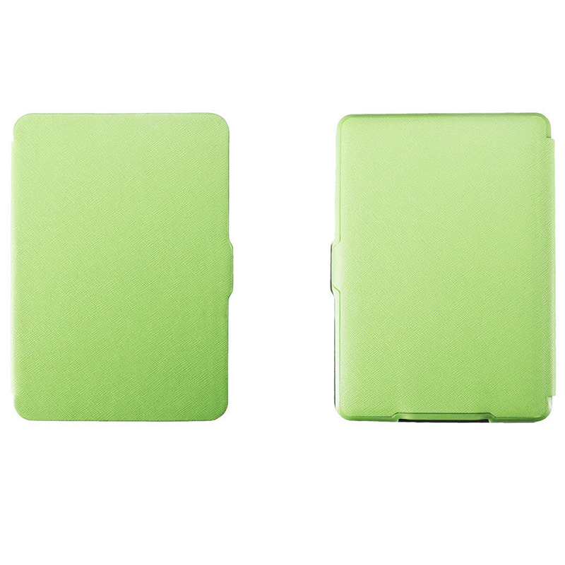 Magnetic PU Leather Cover Case Slim For Amazon Kindle Paperwhite (Cross Pattern, Green)